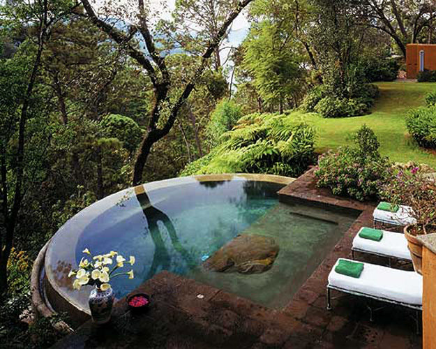Pictures Of Beautiful Backyard Pools : Beautiful Exteriors Swimming Pools  for love of fashion and design