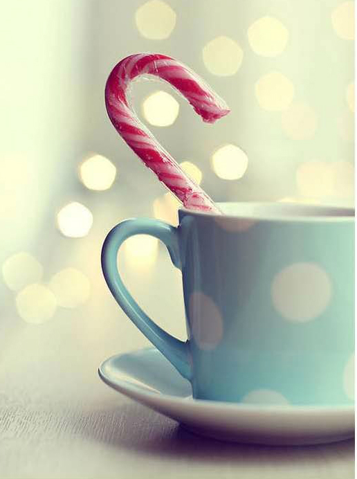 candy cane teacup